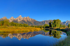 Schwabacher's Landing in the Grand Tetons Royalty Free Stock Photo