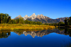 Schwabachers Landing in the Grand Tetons Stock Images