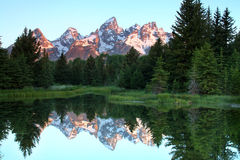 Schwabacher's Landing at Sunrise Stock Photography