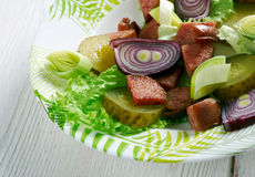 Schwabischer Wurstsalat Arkivbild