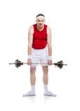 Schwacher Bodybuilder Lizenzfreie Stockfotografie