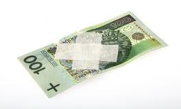 Schwacher polnischer Zloty Stockbild