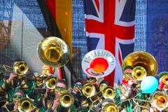 Schwaebisch Gmuend, Allemagne 23 février 2019 : trente-sixième festival de musique international de carnaval image libre de droits