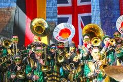 Schwaebisch Gmuend, Allemagne 23 février 2019 : trente-sixième festival de musique international de carnaval images stock