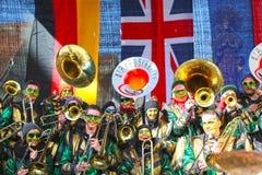 Schwaebisch Gmuend, Allemagne 23 février 2019 : trente-sixième festival de musique international de carnaval image stock