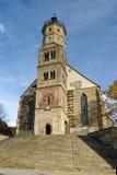 Schwaebisch Hall Church royalty-vrije stock afbeeldingen