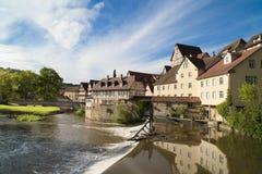 Schwaebisch Pasillo, Alemania Fotos de archivo
