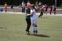 Dzieci bawić się piłkę nożną BSC sChwalbach Zdjęcia Stock