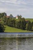 Schwalten pond in allgaeu Stock Images