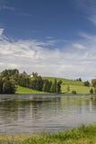 Schwalten pond in allgaeu Stock Image
