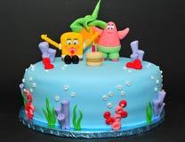 Schwamm-Bob-Kuchen Stockbilder