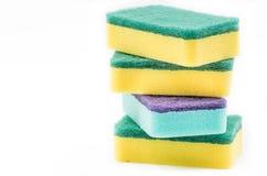 Schwamm für das Säubern und Abwasch Lizenzfreie Stockfotos