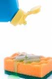 Schwamm mit Reinigungsmittel Lizenzfreies Stockbild