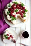 Schwammkuchen mit Mohn Stockfotos