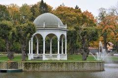 Schwan-Teich an Kadriorg-Park, Tallinn Stockbilder