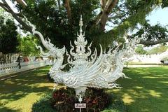 Schwan-Weiß im Tempel bei Chiang Rai Lizenzfreies Stockfoto