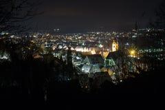 Schwandorf在晚上 免版税库存图片