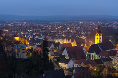 Schwandorf τη νύχτα στοκ φωτογραφία