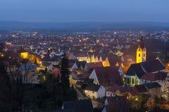 Schwandorf alla notte Fotografia Stock