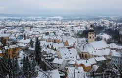 Schwandorf en invierno Foto de archivo libre de regalías