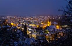 Schwandorf en la noche Fotos de archivo libres de regalías