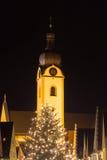 Schwandorf en la noche Imagenes de archivo