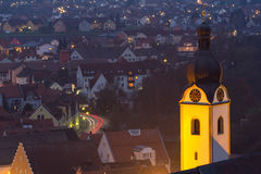 Schwandorf en la noche Fotografía de archivo