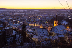 Schwandorf nell'inverno fotografie stock