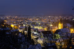 Schwandorf at night Stock Images