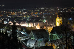 Schwandorf at night Stock Photos