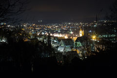Schwandorf at night Royalty Free Stock Images