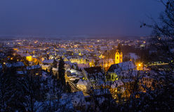 Schwandorf på natten Royaltyfria Foton