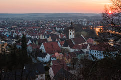 Schwandorf at sundown Stock Photo