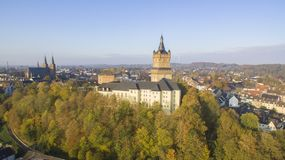 The Schwanenburg castle in Cleves, Germany royalty free stock photography