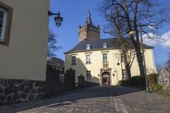 Schwanenburgslottkleven Tyskland arkivbilder