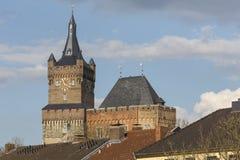 Schwanenburgslottkleven Tyskland royaltyfri foto