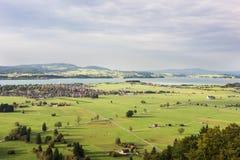 Schwangau долина в Баварии Стоковые Изображения RF