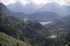 The Schwangau castle. At Tegel berg Germany Royalty Free Stock Photos