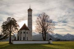 Schwangau church. St. Coloman schwangau church in bavaria germany Royalty Free Stock Images
