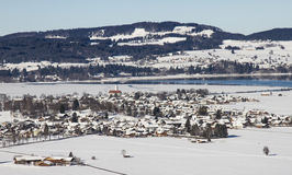 Schwangau city in winter Stock Images