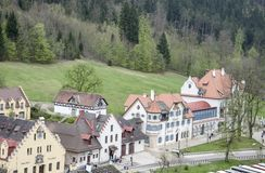 Schwangau-Fabulous little houses Royalty Free Stock Photo