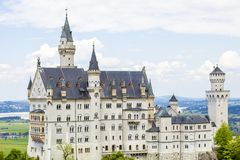 Schwangau, Germany -Neuschwanstein Castle. Schwangau, Germany - 05/12/2018: Neuschwanstein Castle Royalty Free Stock Photos