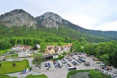 Schwangau village in the valley. Near famous Neuschwanstein Castle Stock Images