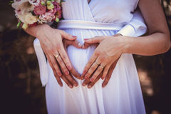 Schwangere Braut Lizenzfreies Stockfoto