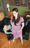 Schwangere Dame in den Schmerz Lizenzfreies Stockbild