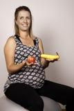 Schwangere Diät Stockfotografie