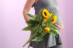 Schwangere Frau. Lizenzfreie Stockfotografie