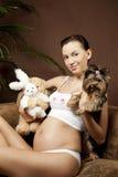 Schwangere Frau Lizenzfreie Stockfotografie