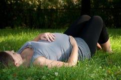 Schwangere Frau Stockfotografie