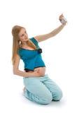Schwangere Frau bilden Selbstportrait Lizenzfreie Stockbilder